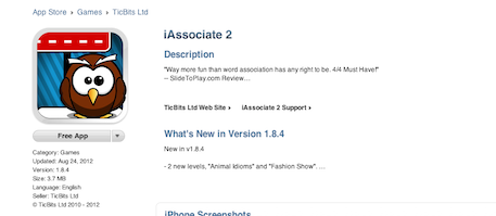 iAssociate 2 in iTunes